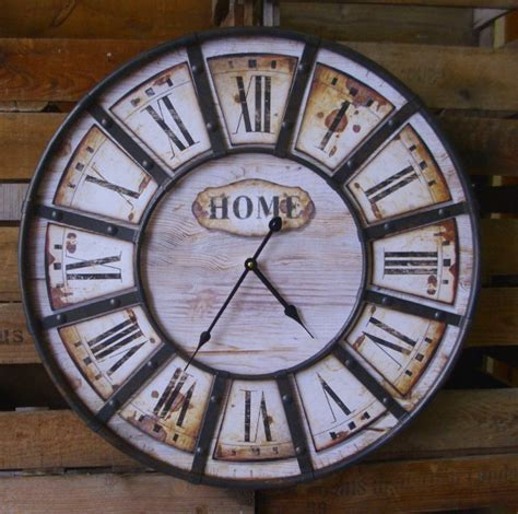 Große Runde Wanduhren by Grosse Wanduhr Home Antik Nostalgie Landhausstil Uhr 60cm