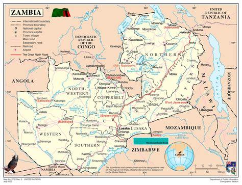 zambia geographical maps  zambia global encyclopedia