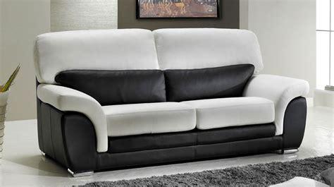 canapé 2 places noir canapé 2 places en cuir noir et blanc pas cher canapé design