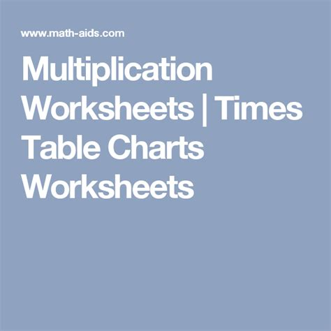 multiplication worksheets times table charts worksheets
