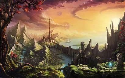 Fantasy Landscape Wallpapers Artwork Land Nature Castle