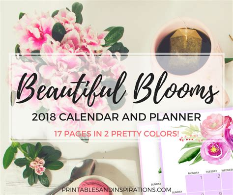 floral calendar   beautiful blooms