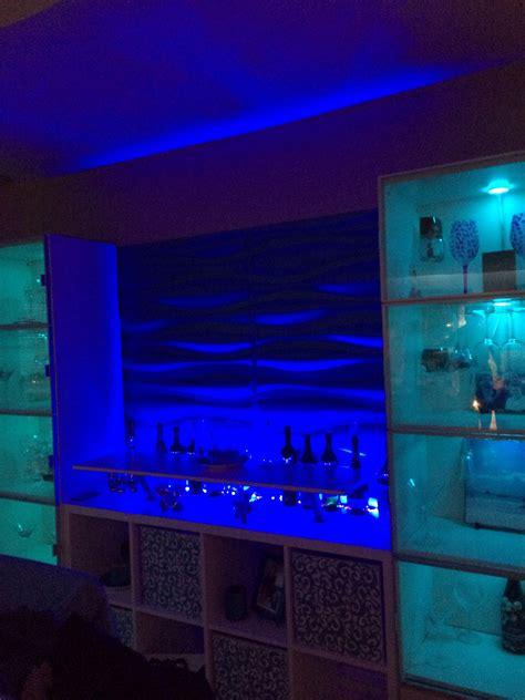 Led Lights For Room Ikea by Led Up Lighting 3d Wall Panels Ikea Kallax Bar Hack My