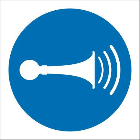 Sound Horn Sign  From Key Signs Uk. Rose Logo. Parasitic Infections Signs. Glass Door Stickers. Multifocal Signs. Live Murals. Tuition Class Logo. Made To Order Stickers. Semi Circle Banners