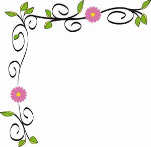 Floral border clip art at clkercom vector clip art online royalty free public domain for Flower border free
