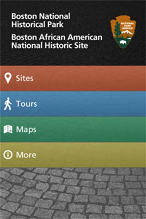 mobile app boston national historical park