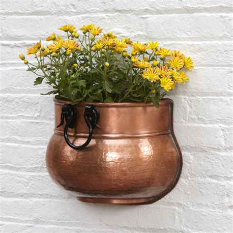 Copper Outdoor Planters by Rectangular Copper Planter Outdoor