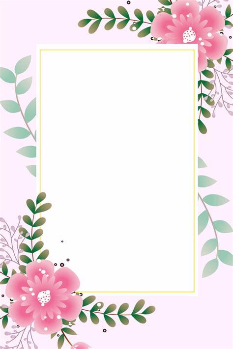 gambar kad jemputan bunga merah jambu perkahwinan ringkas