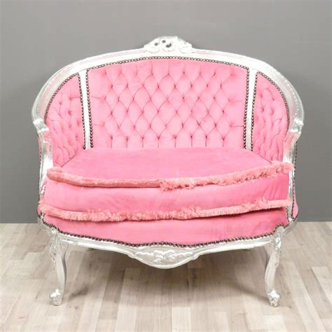 canapé style baroque baroque sofa pink bronze statue