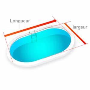 bache a bulles 400 microns ovale bordee moins cher sur With baches a bulles pour piscine sur mesure