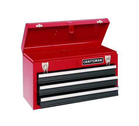 craftsman 3 drawer tool box craftsman 3 drawer metal chest tool storage from sears