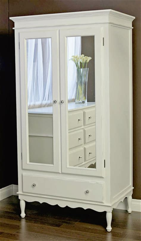 White Armoire With Mirrored Door by Armoire With Mirrored Doors Modern Armoires And