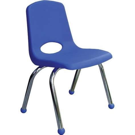 stackable chair with glides 14 quot seat height lower
