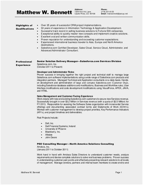 Download 52 Salesforce Resume format | Free Collection Template Example