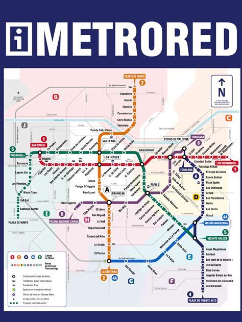 Red Mapa Metro Santiago