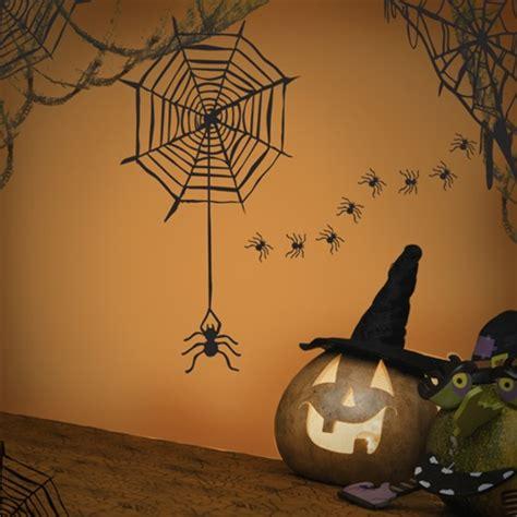 spider web wall decal sticker set