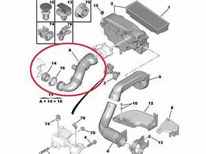 Turbo Hose Pipe 1 6hdi Citroen C5 Xsara Picasso Dispatch