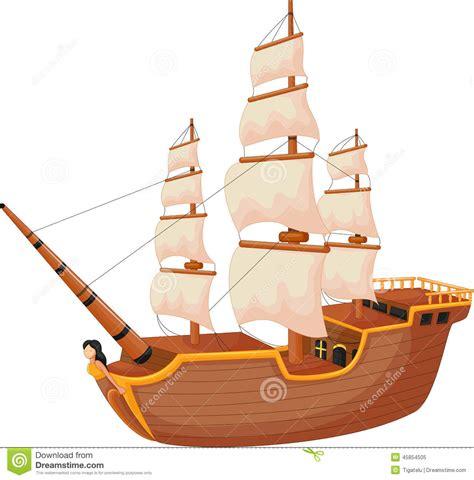 Barco Vikingo Animado by Cartoon Ship Isolated Stock Vector Illustration Of