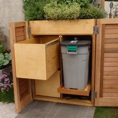 outdoor garbage storage five modern screens for outdoor garbage bins apartment 1292
