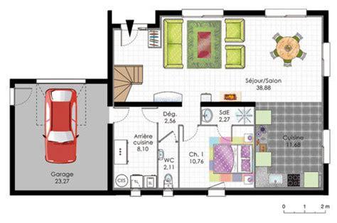 plan maison plain pied 120m2 4 chambres maison moderne de quatre chambres dé du plan de