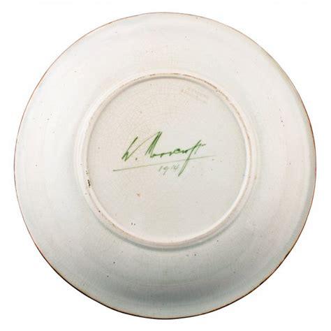 rare moorcroft pottery plate early moorcroft cabinet plate