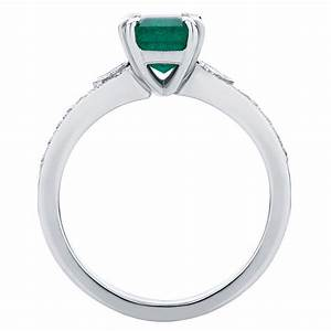 emerald side stones engagement ring platinum eve With eve wedding ring