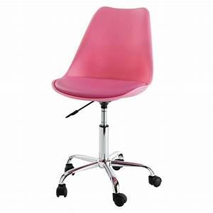 Chaise à Roulettes : chaise de bureau roulettes rose bristol maisons du monde ~ Melissatoandfro.com Idées de Décoration