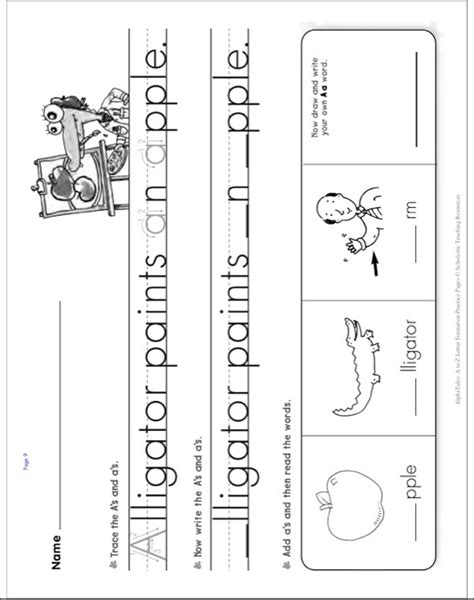 alphatales    letter formation practice pages