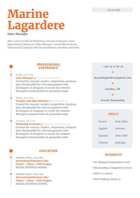 Different Cv Templates by Simple Resume Template Different Resume 183 Mycvfactory