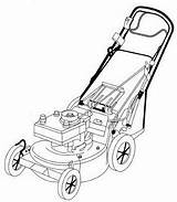 Lawn Mower Coloring Pages Drawng Argiculture Equipment sketch template