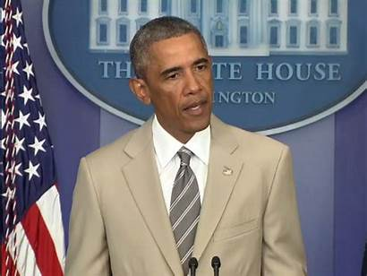 Obama Suit Barack President Tan Wears Beige