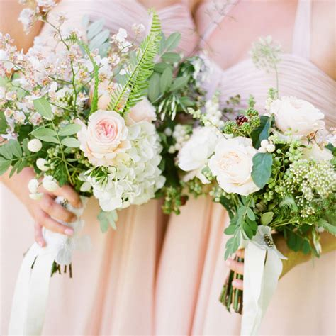 11 Pink Rose White Green Wedding Bouquet Once Wed