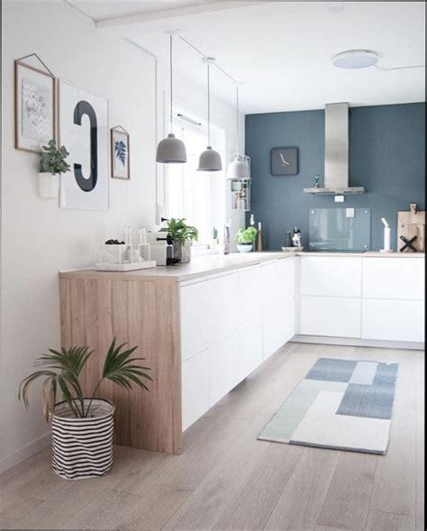 cuisine bleue et blanche agrandir une cuisine blanche et