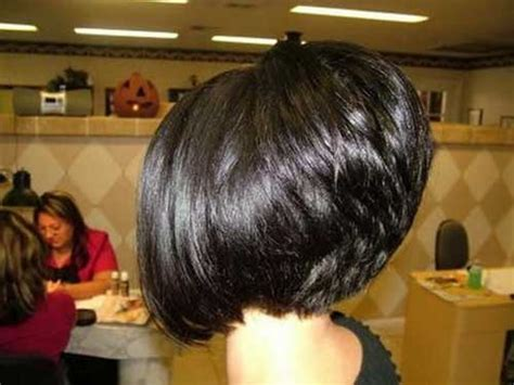 Back View Of Bob Stacked Haircut For Women