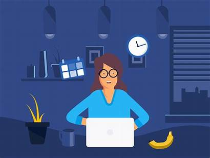Woman Hard Works Animation Dr Icon Dribbble