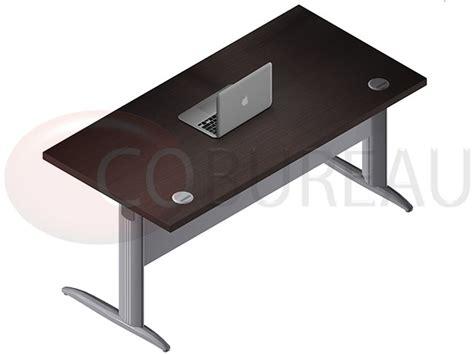 bureau 160 cm bureau droit pro métal 160 cm pieds en l