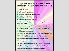 Study Tips from Our Boarding School Teachers Randolph
