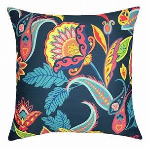 Mainstays, Bohemian, Print, Decorative, Throw, Pillow, 18x18, U0026quot, Navy, -, Walmart, Com