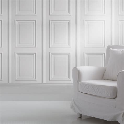 panelling wallpaper white panelling wallpaper  mineheart