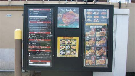 gelberg signs builds exterior drive  menu boards