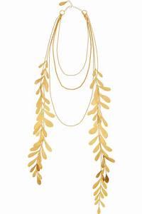 Hervé Van Der Straeten : herve van der straeten 24karat goldplated leaf necklace in ~ Melissatoandfro.com Idées de Décoration