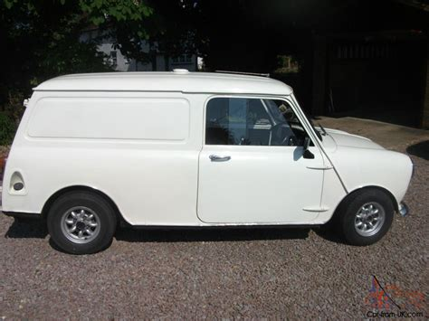 White 1971 Austin Mini Van