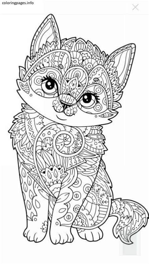Cat Animal Mandala Coloring Pages Mandala Coloring Pages