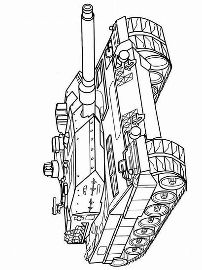 Coloring Pages Army Tanks Military Printable Vehicles