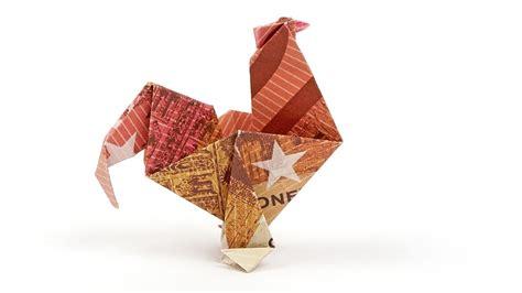 geldscheine falten ostern hahn aus geld basteln