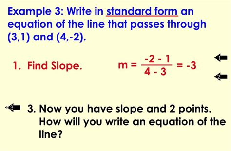 lesson 5 4 writing the equation of a line in standard form