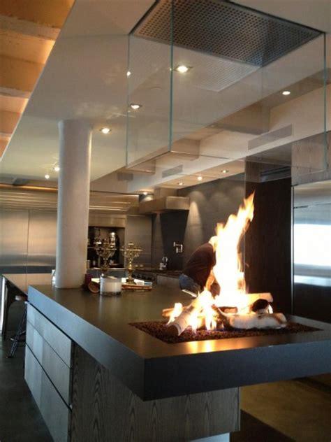 Kitchen Gas Fireplace - custom kitchen firepit nyc