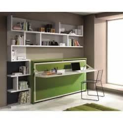 bureau avec etagere integree armoire lit 1 place armoires lits escamotables armoire lit transversale city avec bureau et