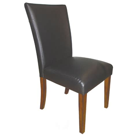 vinyl upholstered dining chair in black dcg stores
