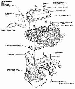 Honda 4 Cylinder Engine Diagram